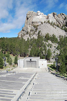 Mount Rushmore National Monument Amphitheater South Dakota Poster by Shawn O'Brien
