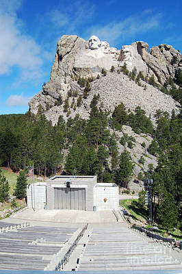 Mount Rushmore National Monument Overlooking Amphitheater South Dakota Poster by Shawn O'Brien