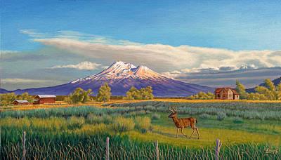 Mount Shasta Poster by Paul Krapf