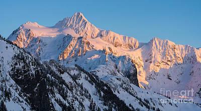 Mount Shuksan Alpenglow Poster by Mike Reid
