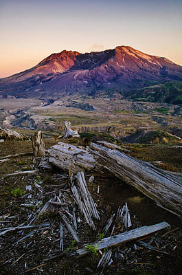 Mount St. Helens Sunset Poster by Greg Vaughn - Printscapes