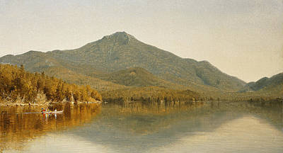 Mount Whiteface From Lake Placid Poster by Albert Bierstadt