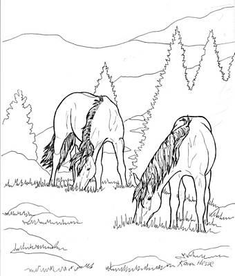 Mountain Horses Poster by Karen Hesse