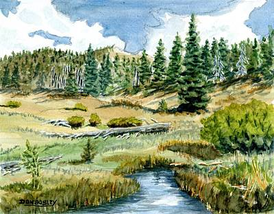 Mountain Meadow Poster by Don Bosley