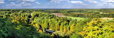 Mountain Park Lookout Panorama On Washington Island Door County Poster by Christopher Arndt