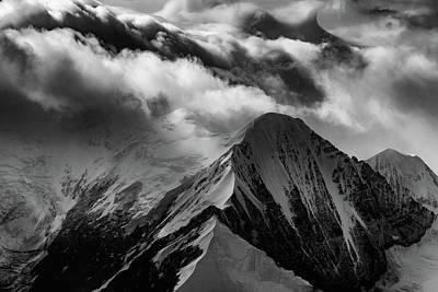 Mountain Peak In Black And White Poster by Rick Berk
