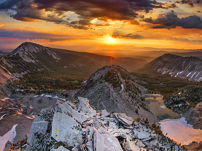 Mountain Top Sunrise Poster by Leland D Howard
