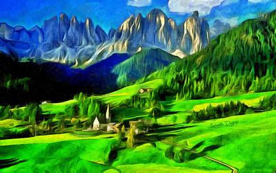 Mountains - Da Poster by Leonardo Digenio