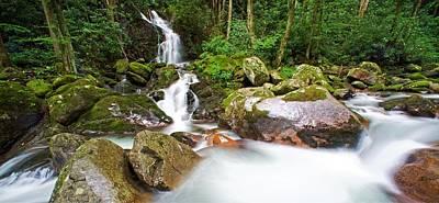 Mouse Creek Falls - North Carolina Waterfalls Series Ultra Wide Poster by Matt Plyler