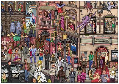 Movie Stars Poster by Matan Kohn