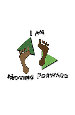 Moving Forward Poster by Judi Saunders