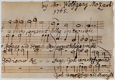 Mozart: Motet Manuscript Poster by Granger