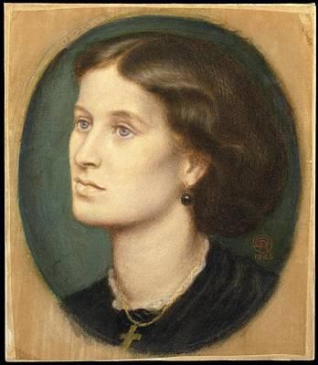 Mrs Vernon Lushington Poster by Dante Gabriel Rossetti
