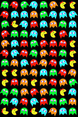 Ms Pacman Panel Poster by Daniel Hagerman