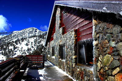 Mt. Baldy - Frozen Poster by Nick Frazier