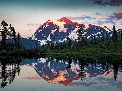 Mt. Shuksan Washington Northern Cascades Poster by Brendan Reals