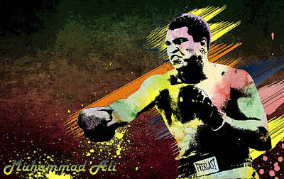 Muhammad Ali  Poster by Manjot Singh Sachdeva