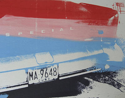 Multicolor Fender Poster by David Studwell