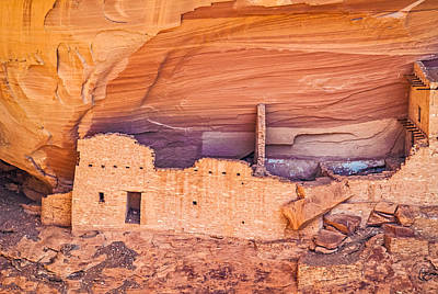Mummy Cave Ruin Detail - Canyon De Chelly National Monument Photograph Poster by Duane Miller