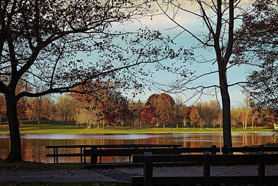 Munroe Falls Metropark Poster by Donna M Bungo