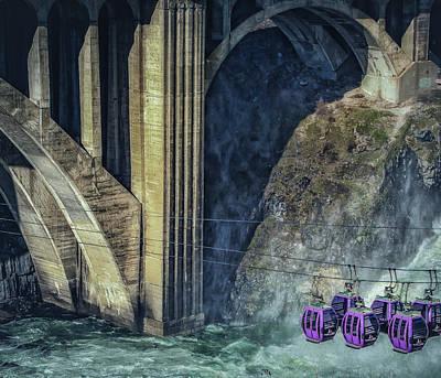 Munroe Street Bridge Poster by Dennis Herzog