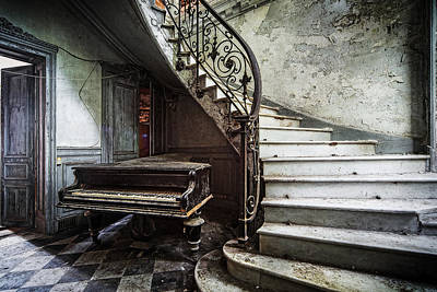 Music At Lost Places Old Abandoned Piano Poster by Dirk Ercken