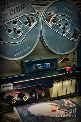 Music- Reel To Reel Tape Deck Poster by Paul Ward