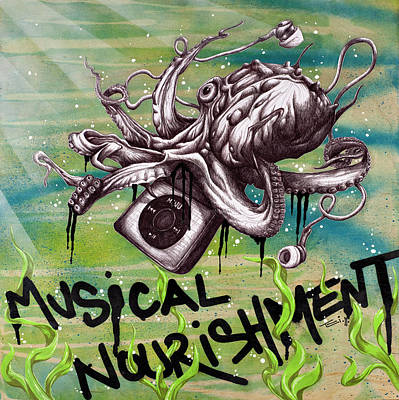 Musical Nourishment Poster by Tai Taeoalii