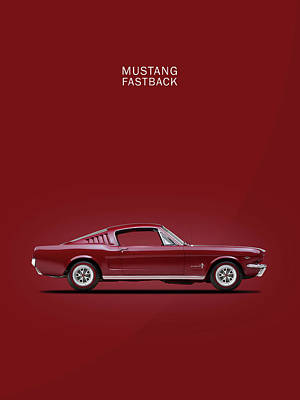 Mustang Fastback Poster by Mark Rogan