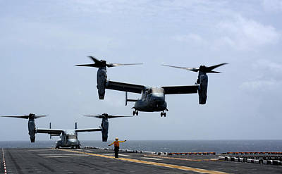 Mv-22 Osprey Aircrafts Us Navy Poster by Celestial Images