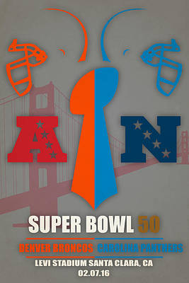 My 2nd Super Bowl Broncos Panthers Poster by Joe Hamilton