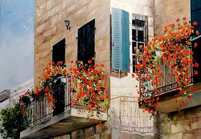 My Balcony Poster by DYANI Paintings