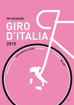 My Giro D'italia Minimal Poster 2015 Poster by Chungkong Art