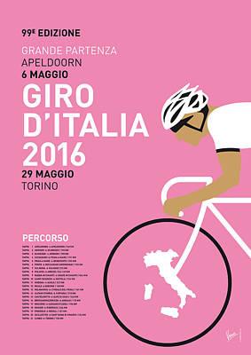 My Giro Ditalia Minimal Poster 2016 Poster by Chungkong Art