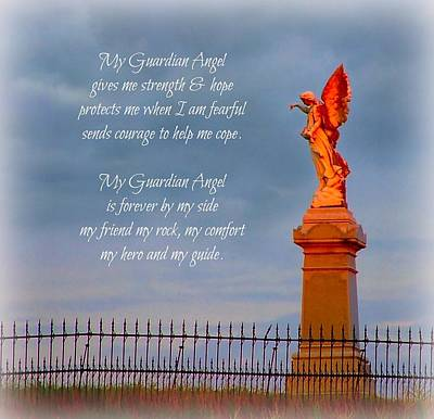 My Guardian Angel Poster by Julie Dant