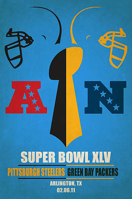 My Super Bowl Steelers Packers Poster by Joe Hamilton