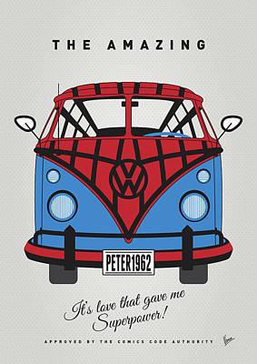 My Superhero-vw-t1-spiderman Poster by Chungkong Art