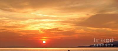 Mykonos Sunset Poster by Madeline Ellis
