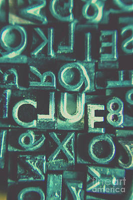 Mystery Writer Clue Poster by Jorgo Photography - Wall Art Gallery