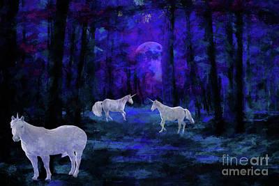 Mystical Moonlight  Poster by Geraldine DeBoer