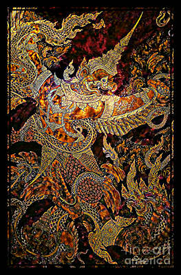Mythical Garuda Poster by Ian Gledhill