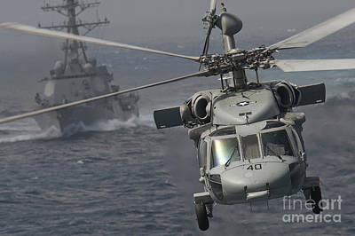 N Mh-60s Knight Hawk Delivers Supplies Poster by Stocktrek Images