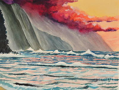 Na Pali Coast Poster by John W Walker