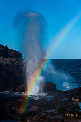 Nakalele Blow Hole Poster by Emily Farewell