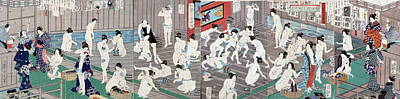 Naked Bodies Poster by Toyohara Kunichika