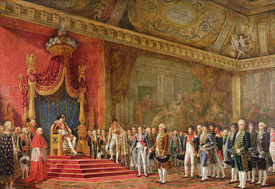 Napoleon Receiving The Delegation From The Roman Senate Poster by Innocent Louis Goubaud
