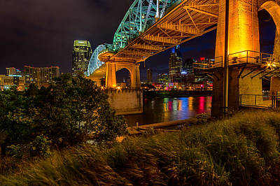 Nashville From Under Shelby Bridge Poster by Mike Burgquist
