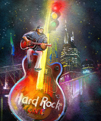 Nashville Nights 01 Poster by Miki De Goodaboom