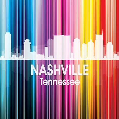 Nashville Tn 2 Squared Poster by Angelina Vick