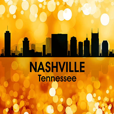 Nashville Tn 3 Squared Poster by Angelina Vick